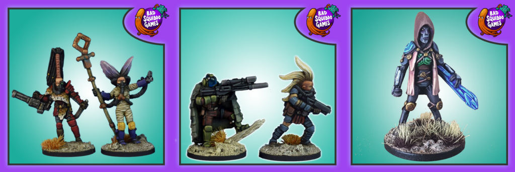 Five example minis from the Ghosts of Gaia model range.