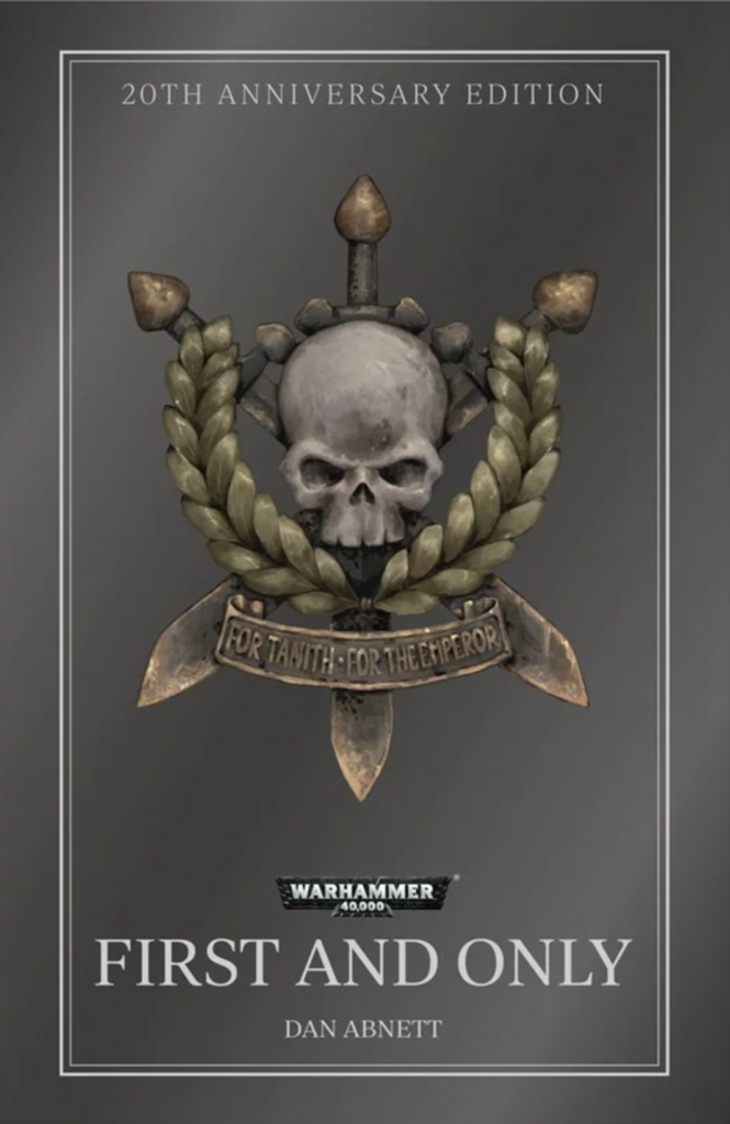 First and Only Book cover with a skull and three sword icon