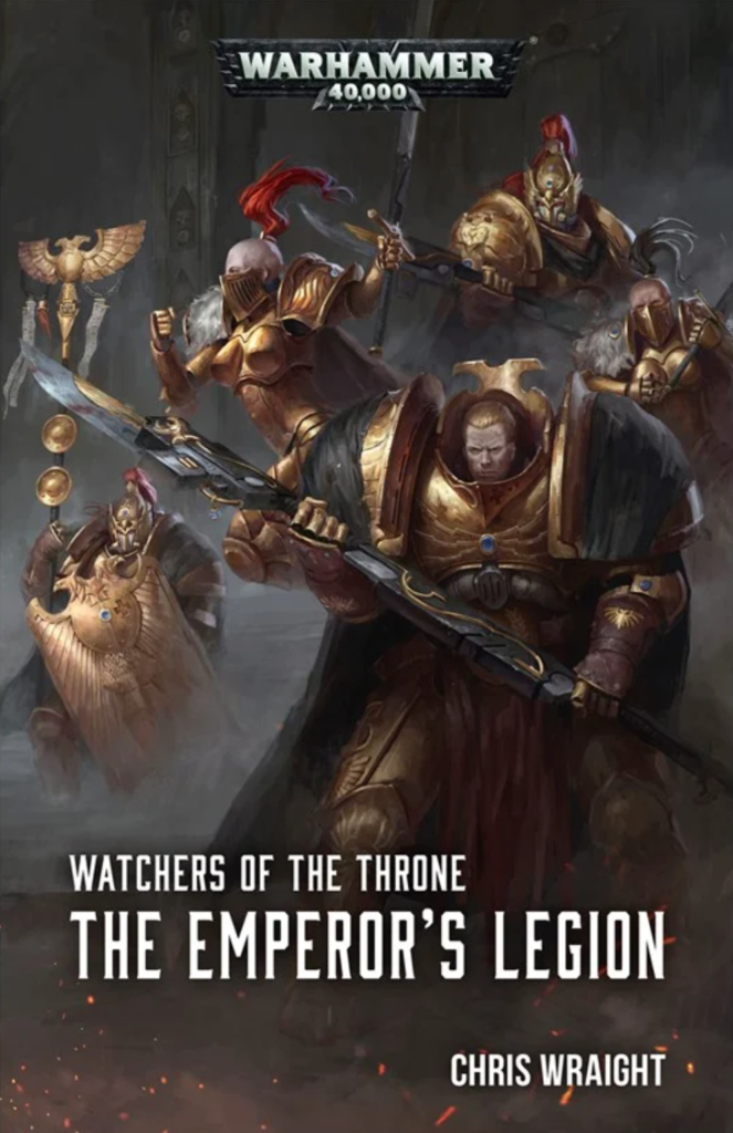 Cover of The Emperor's Legion with a montage of characters from the book.