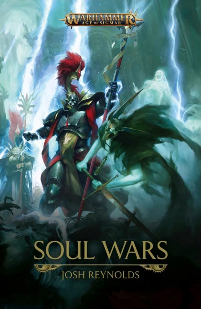 Cover of Soul Wars with a Stormcast Eternal fighting a Nighthaunt ghost